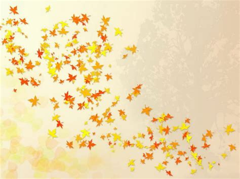 Autumn Leaves Fall Backgrounds Powerpoint by Fall Leaves Background Falling Leaves Nature Template