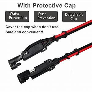 Kuncan 12ft Sae To Sae 2 Pin Extension Cable Dc Power