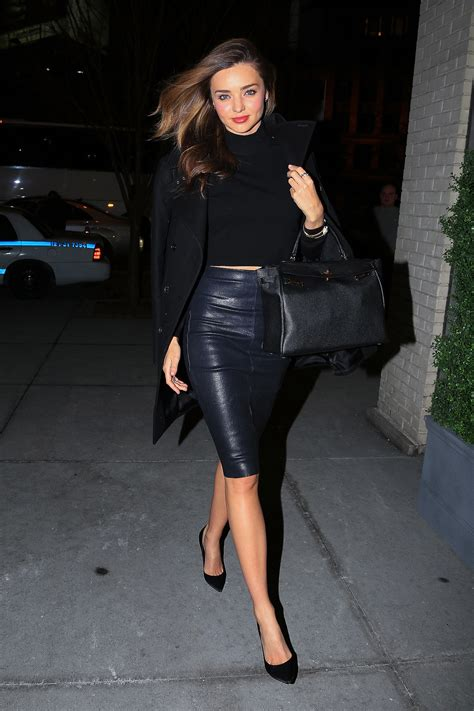 Need Another Reminder That Black Leather Isn't All Tough?  Miranda Kerr Has An Outfit For Just