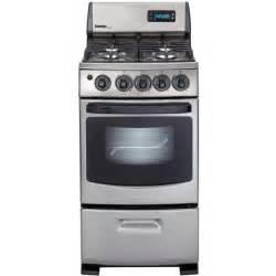 Danby DR299BLSGLP 20 Inch Deluxe With Electronic Ignition Gas Range - Stainless Steel