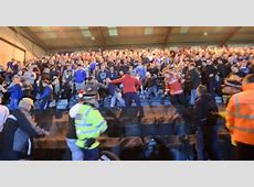 Video Violence at Rochdale versus Oldham Athletic derby