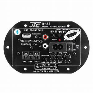 12v 220v Bluetooth Power Amplifier High Power Subwoofer