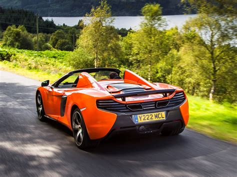 orange mclaren rear mclaren 650s spider convertible review 2014 parkers