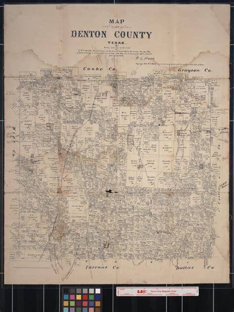 map  denton county texas  portal  texas history