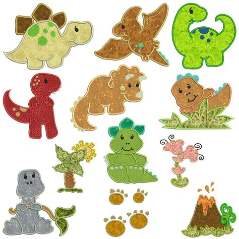 applique embroidery designs dinosaurs machine applique embroidery patterns 12
