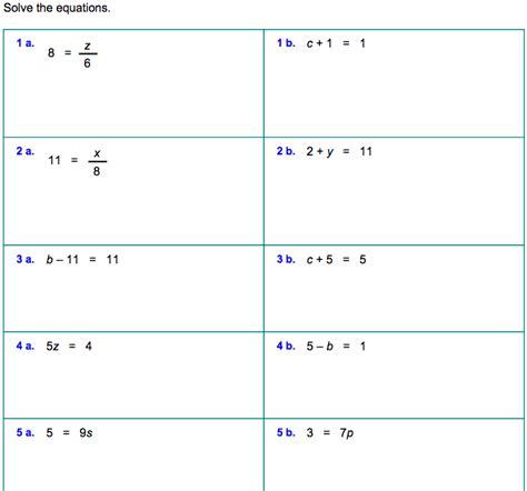 6th grade 187 solving equations worksheets 6th grade