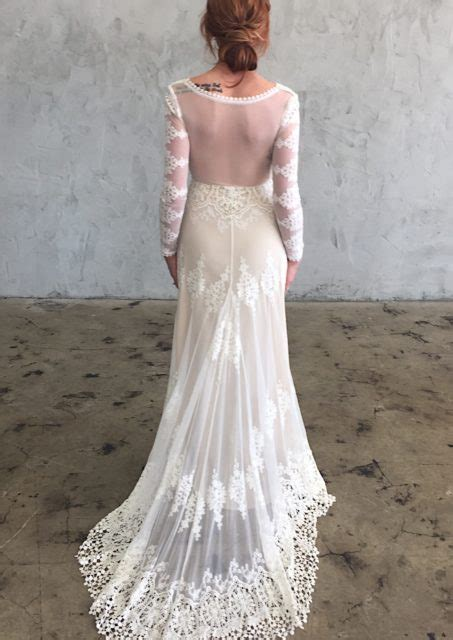 Lisa Lace Backless Boho Wedding Dress Dreamers And Lovers