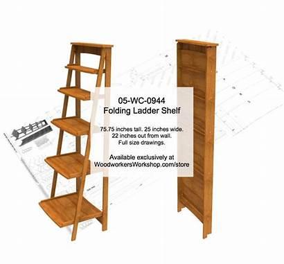 Ladder Shelf Folding Woodworking Plan