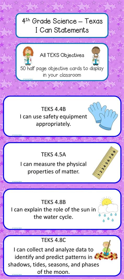 4th Grade Science Teks I Can Statements  School, Social Studies And Daily Objectives