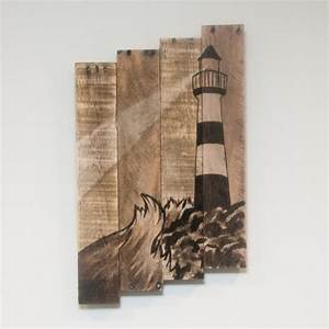 Wood crafts wood craft projects lighthouse art lighthouse for Kitchen cabinets lowes with seashell wall art craft