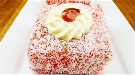 episode  mauritian red lamington cake gateau jam