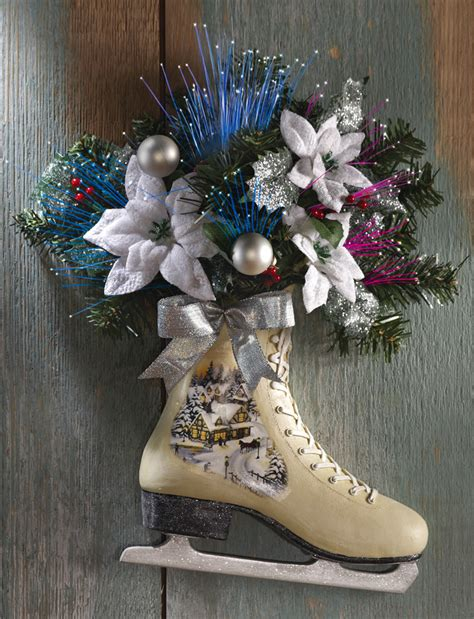 collections etc victorian winter christmas ice skate door