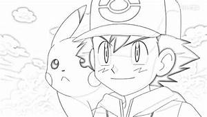 Ash and Pikachu in black and white   Pokemon   Pinterest ...