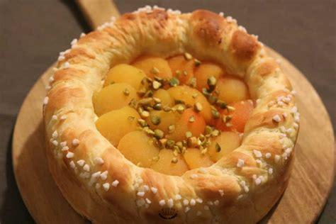 tarte brioch 233 e aux abricots et 224 la cr 232 me p 226 tissi 232 re recette facile