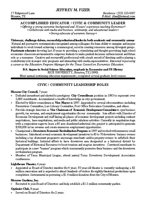 Leadership On Resume Template by 6 Leadership Resume Exles Ledger Paper
