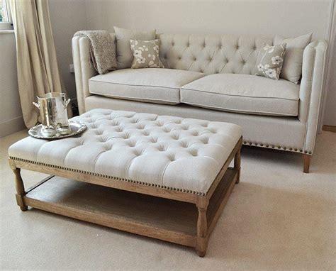 upholstered ottoman coffee table 16 otomanas con estilo decorar net