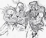 Coloring Combat Mortal Kombat Scorpion Adult Skorpion Sheets Colouring Colorear Malvorlage Printable Ausmalen Drawings Characters Malvorlagen Besten Enyonge Disimpan Dari sketch template