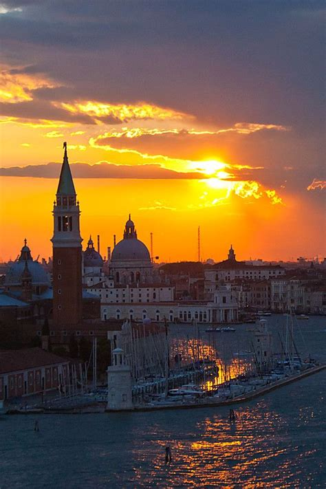 Sunset In Venice Italy Europe Pinterest