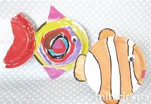 Deko Fische Zum Aufhängen : fische aus papptellern selber basteln ~ Lizthompson.info Haus und Dekorationen