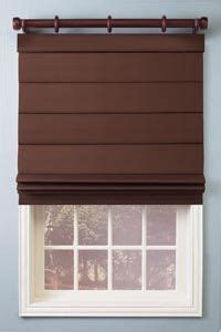 roman shade with curtain rod   For the Home   Pinterest