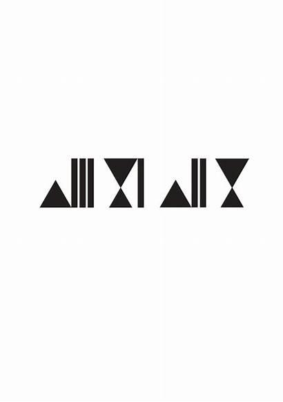 Arabic Typography Abstract Behance Caligraphy اله الا
