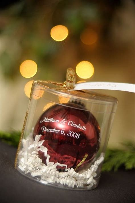 christmas gifts for guests ornament favor 15 winter appropriate wedding favors that will warm your guests hearts https