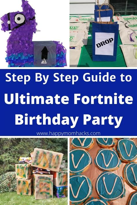 fortnite birthday party ideas games supplies