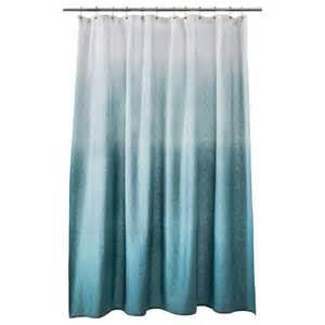 ombre shower curtain teal threshold target