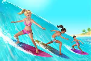 Barbie a Mermaid Tale Surfing