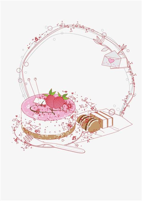 vector cake border fashion  cake png transparent