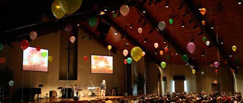 balloons church stage design ideas