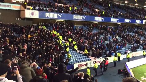 hearts  rangers fans   game youtube