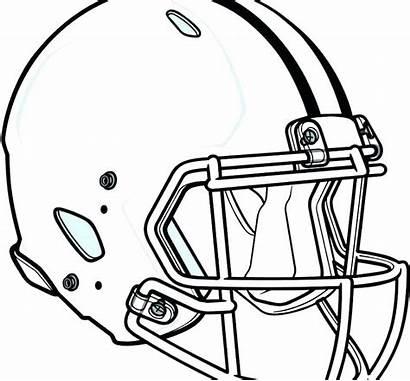 Football Coloring College Pages Helmet Getcolorings Printable