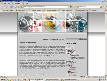 Templates Entertainment Blog by Template Free Website Blog Free Layouts 2009