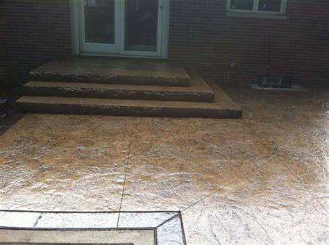 textured concrete patio g m concrete staining antiquing