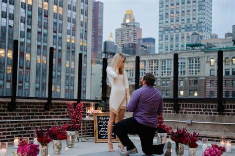 york city rooftop romantic proposal   girls