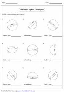 area volume and surface area worksheets surface area worksheets