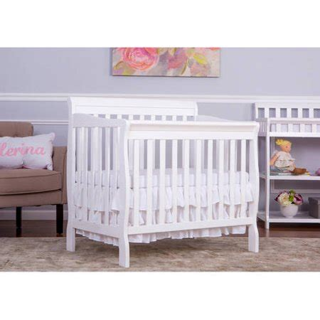 on me mini crib on me aden 4 in 1 convertible mini crib white