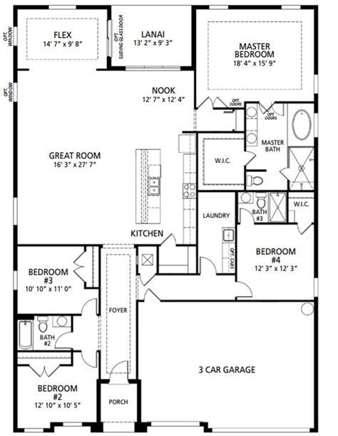 New Home Floorplan Melbourne, FL Venice   Maronda Homes