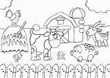 Coloring Farm Animals Printable Scene Animal Talking Barnyard Cartoon Colouring Sheets Preschool Activities Colorings sketch template