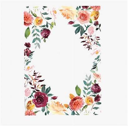 Floral Binder Printable Covers Invitation Clipart Cartoon