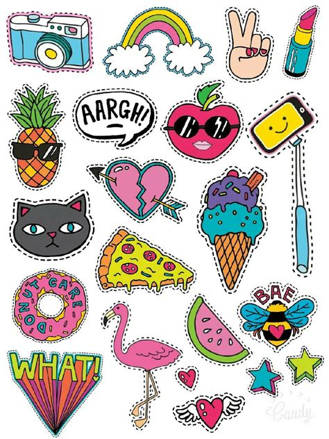 cartoon style stickers printable freestickersprintable
