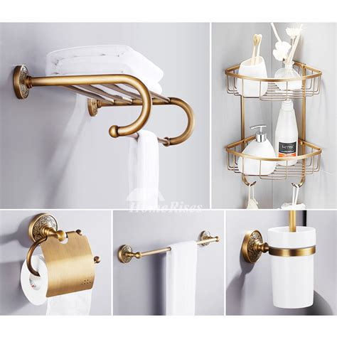 Solid Brass Bathroom Fixtures by Solid 6 Antique Brass Bathroom Hardware Sets