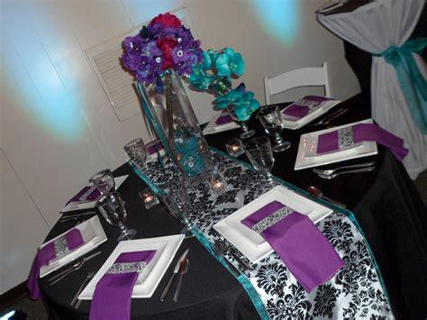 purple and black table settings my fall wedding achurlik91