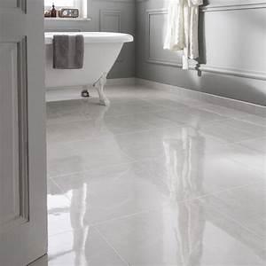 Carrelage Blanc Sol : carrelage sol et mur blanc effet marbre olympie x cm leroy merlin ~ Dode.kayakingforconservation.com Idées de Décoration