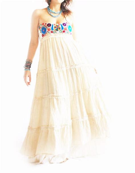handmade mexican embroidered dresses  vintage treasures