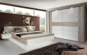 schlafzimmer sets schlafzimmer set tuva 2 teilig in sandeiche weiß hochglanz