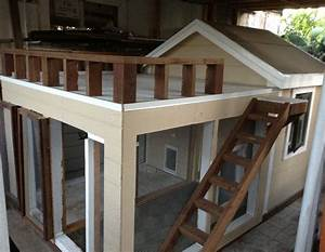 dog house with porch terrace three windows and closing With dog house with deck