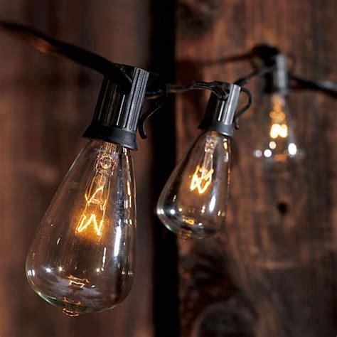 edison string lights