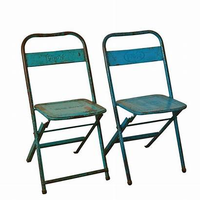 Folding Chairs Metal Furniture Industrial Antique Stool